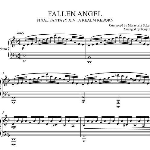 FINAL FANTASY XIV - Fallen Angel (Garuda's Theme) piano cover (Arr.by Terry:D)