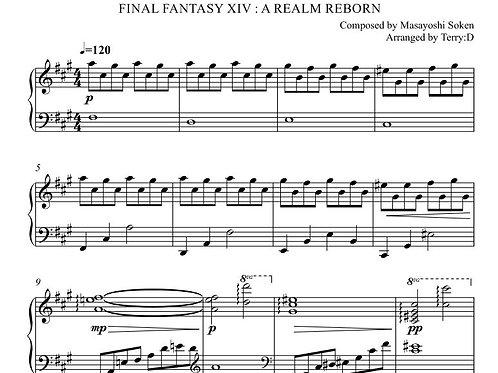 FFXIV - OBLIVION(忘却の彼方) Shiva Theme Phase 2 for piano sheetmusic and MIDI