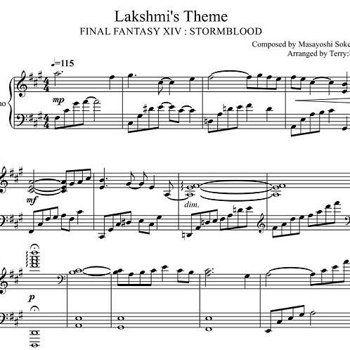 FFXIV - Lakshmi Theme for piano solo (Arr.by Terry:D)sheetmusic+midi