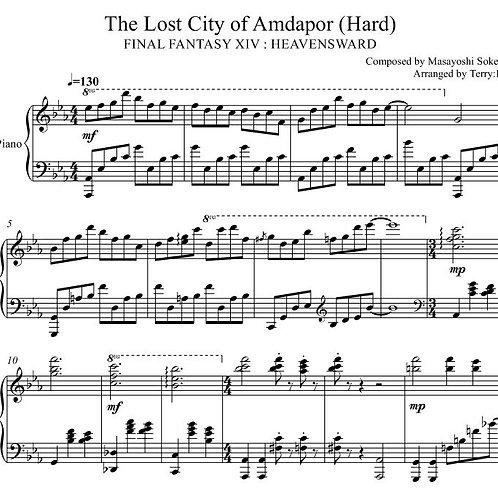 Final Fantasy XIV - The lost City of Amdapor (Hard mode) for piano