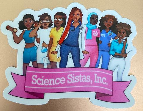 Science Sistas Sticker