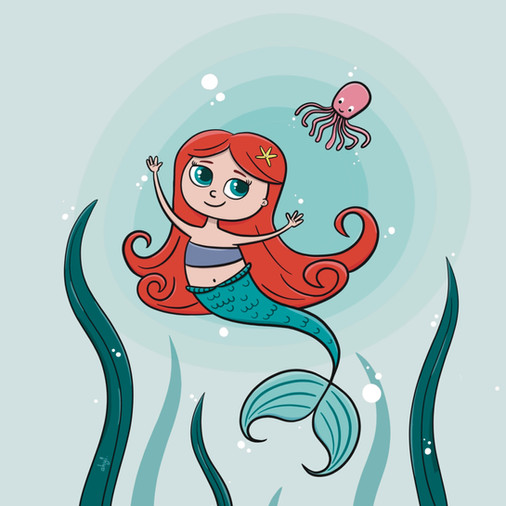 Little Mermaid and Octopus