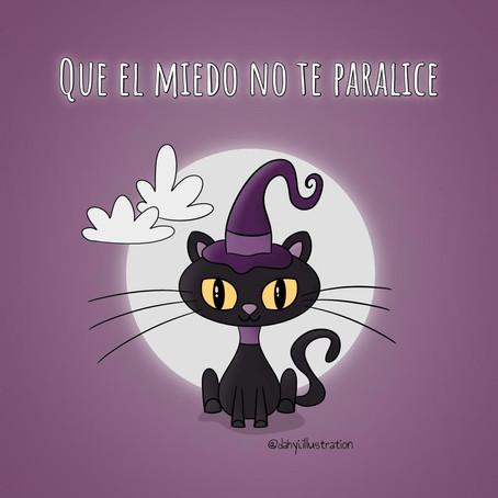 Tutorial de Dibujo Paso a Paso de Gato de Halloween para niños + Lo que pienso de los Miedos