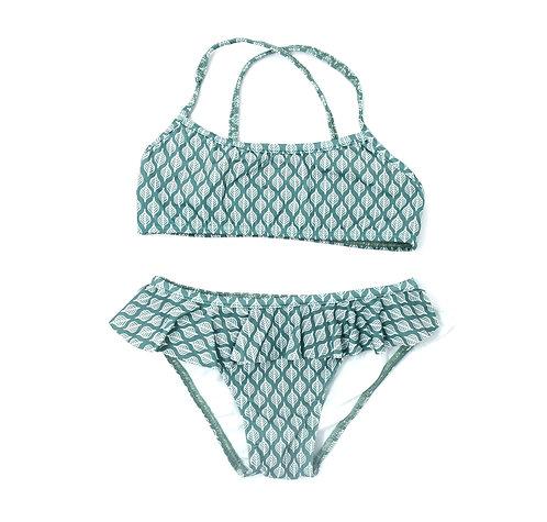 Bikini de niña Hojas