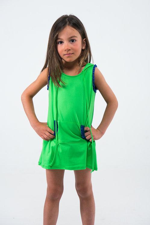Vestido verde manzana