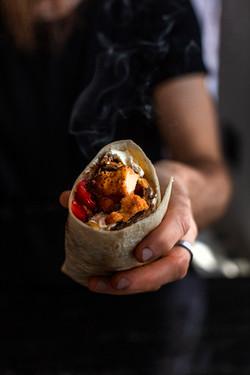 Burrito con pollo fritto
