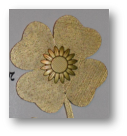 Isopor bloem goud