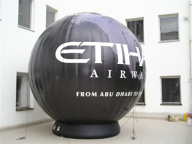 Ground air-filled sphere