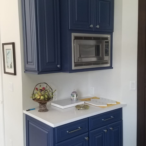 Kitchen Cupboards - Solid color