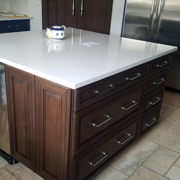 Stained Finish Kitchen Island