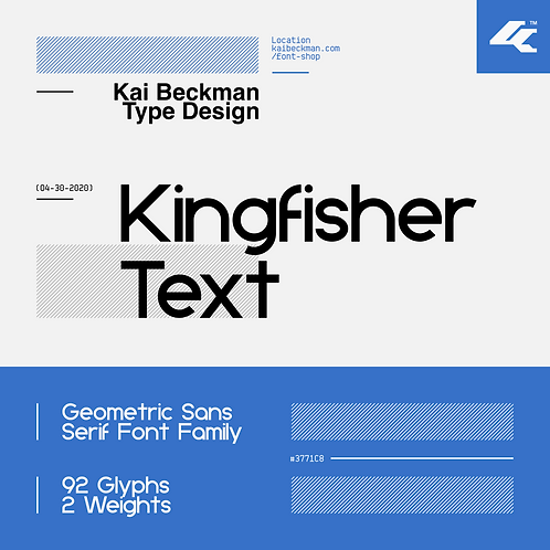 Kingfisher Text Typeface
