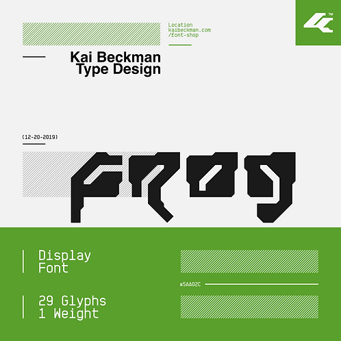 Frog Typeface
