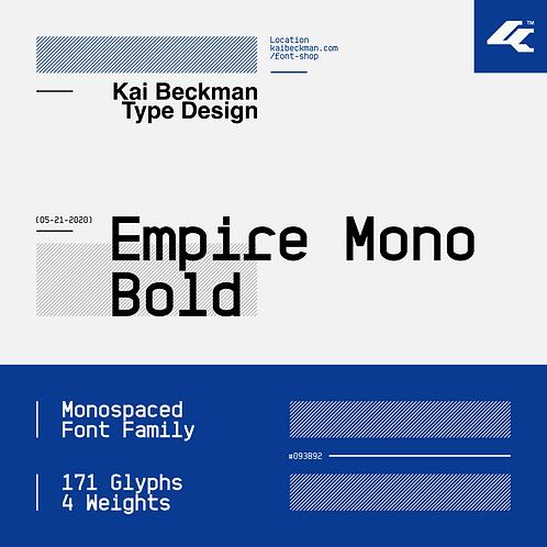 Empire Mono Bold Typeface