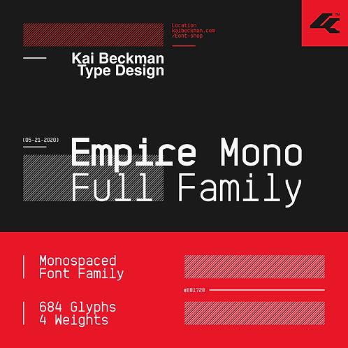 Empire Mono Full Typeface Family