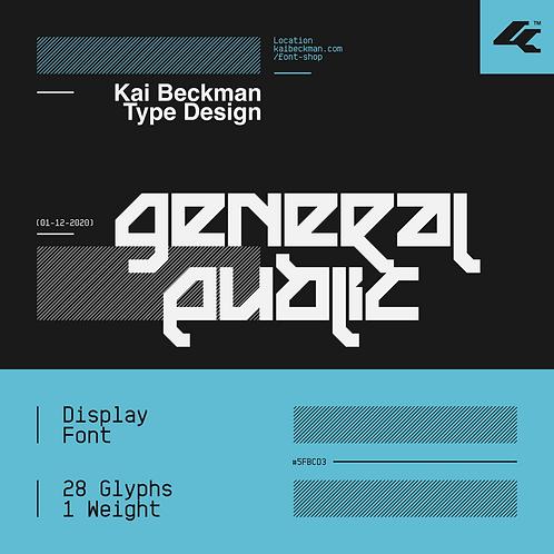 General Public Typeface