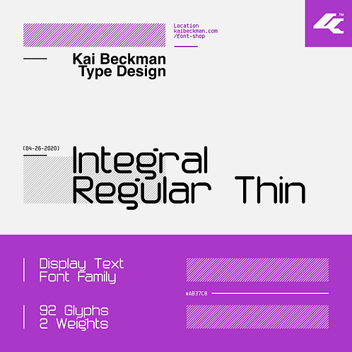 Integral Regular Thin Typeface