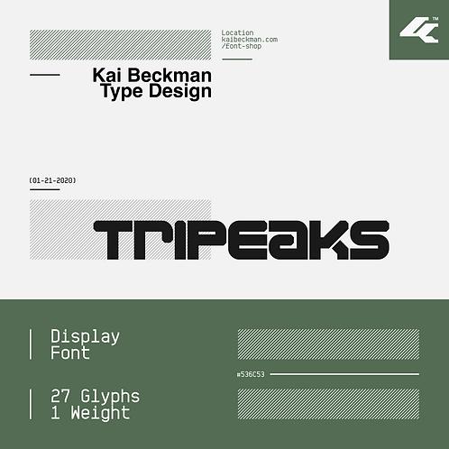 Tripeaks Typeface