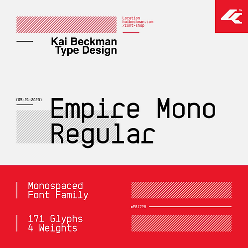 Empire Mono Regular Typeface