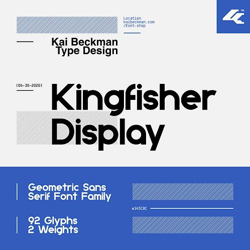 Kingfisher Display Typeface