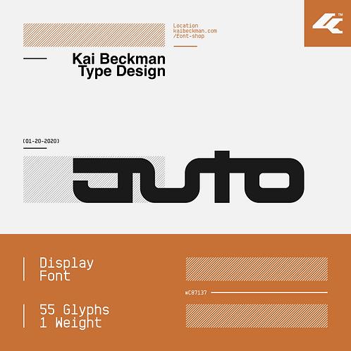 Auto Typeface