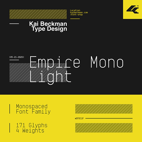 Empire Mono Light Typeface