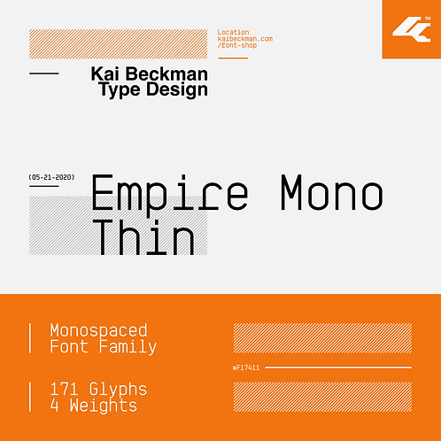 Empire Mono Thin Typeface
