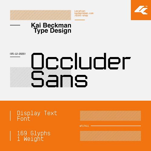 Occluder Sans Typeface