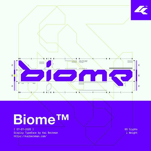 Biome Typeface