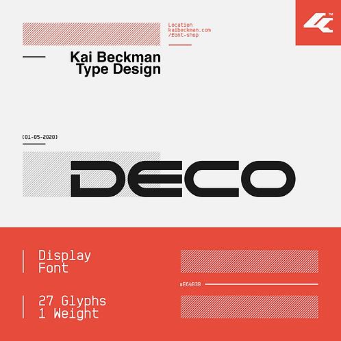 Deco Typeface