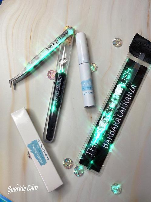 Tweezer, Brow gel, Precision brow brush kit