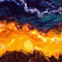 Sandpoint Sunset Painting Pour