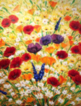 Red Poppy Painting