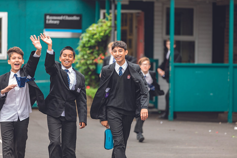 school boys Dulwich College, Royal National Children's SpringBoard Foundation, social mobility, broadening access, schools, widening access, education