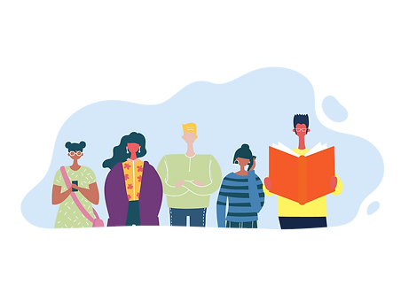 Men, women, mobile phone, book, studying, Royal National Children's SpringBoard Foundation, social mobility, schools, bursary, inclusion, social mobility, broadening access