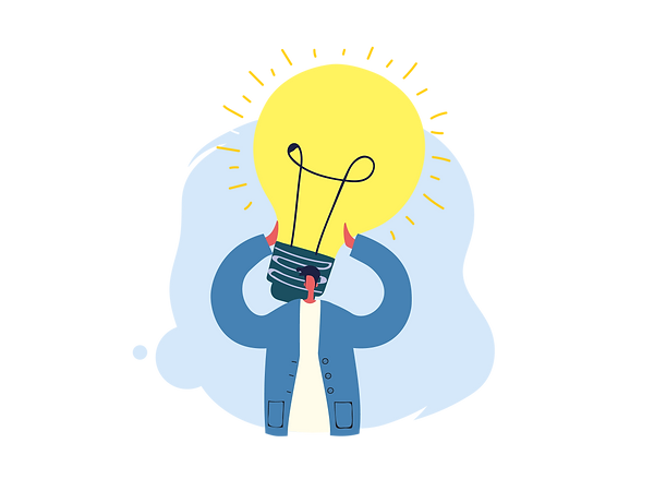 Man, lightbulb on head, Eureka moment, Royal National Children's SpringBoard Foundation, social mobility, broadening access, life-changing opportunities