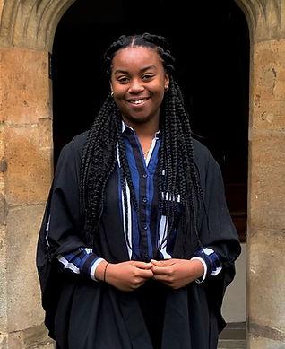 Esther, university gown, Oxbridge College, bursary, Royal National Children's SpringBoard Foundation, social mobility, widening access, disadvantaged