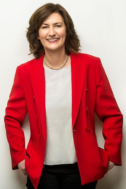 Jo Evans red jacket .jpg