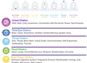 7 Major Chakras free printable