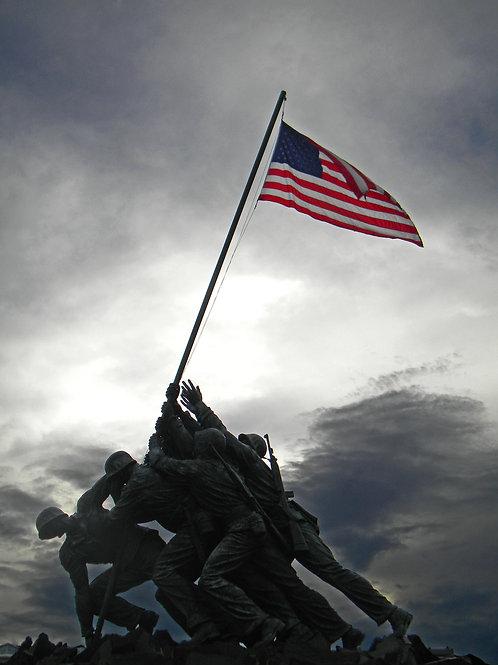 Marine Corps War Memorial - Framed Photo Print
