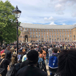 Photo: Jake Loaders   BLM rally at College Green, Bristol, June 7th 2020.