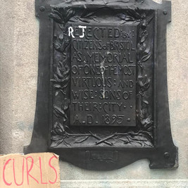 """Photo: Rebecca Harrison   The inscription on the statue's plaque reads:   """"Erected by citizens of Bristol as a memorial of one of the most virtuous and wise sons of their city. A.D. 1895.""""  The letters 'R' and 'J' had been graffitied onto the inscription, to read 'rejected', by protestors during the BLM demonstration (June 7th 2020)"""