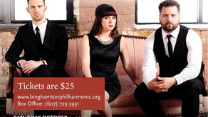 "Binghamton Philharmonic presents ""Clocks & Clouds"" Saturday October 9th at EPAC"