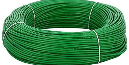 PVC Insulated Industrial 4 sq.mm Cable Green 100m