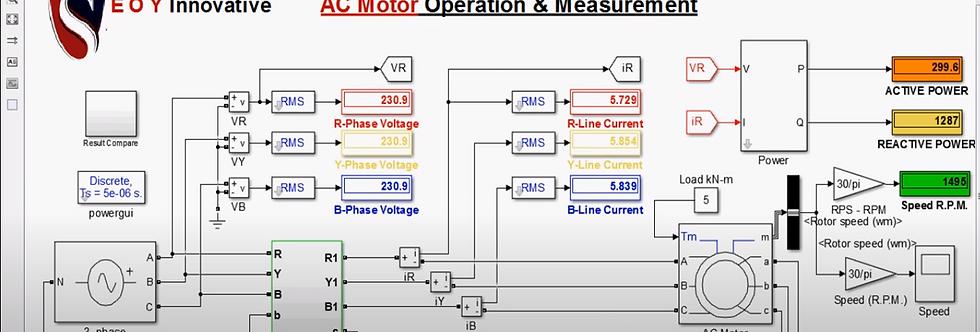 3-Phase AC Motor Star Delta Starter MATLAB Simulink