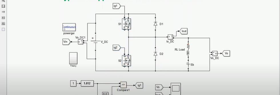Type - C Chopper | First & Second Quadrant Converter | MATLAB Simulation