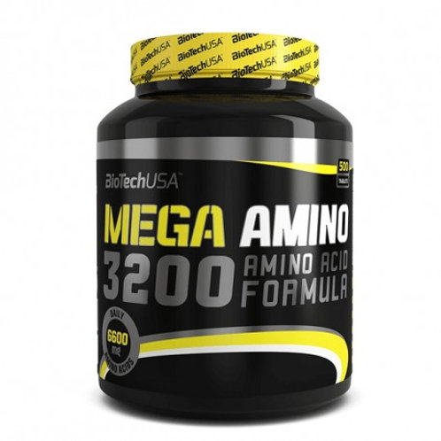Acides aminés Mega Amino 3200 - Pot de 300 Comprimés