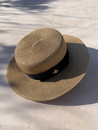 Yves Boater Hat | Gold