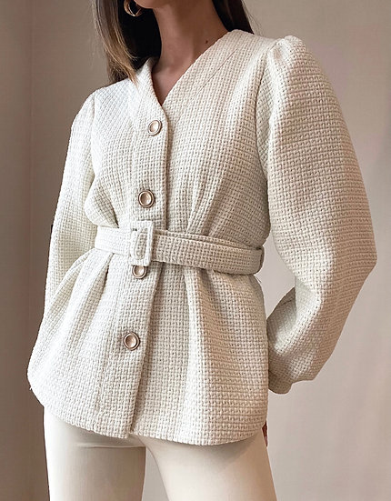 Nova Tweed Jacket | Oatmeal