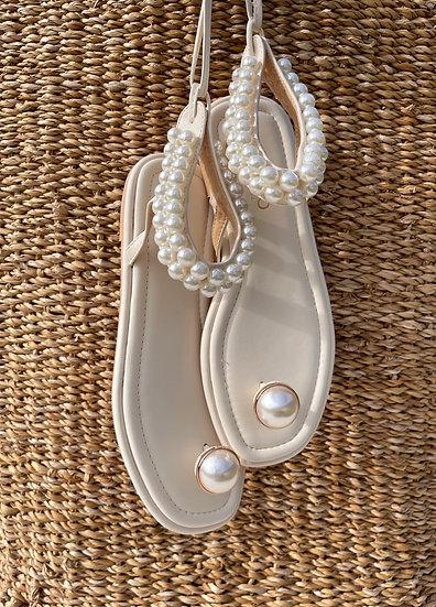 Margo Pearl Sandals | Buttercream