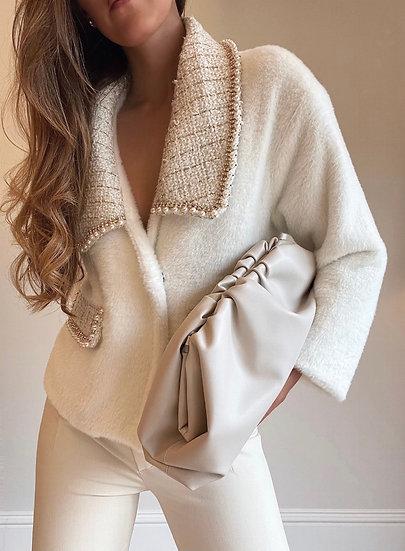 Vienna Embellished Jacket | Cloud White